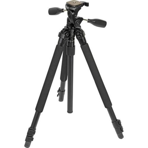 Slik Pro 330DX Tripod (Black) with 3-Way Pan/Tilt Head (Quick Release) - Supports 6.63 lb (3.01 kg)-1008