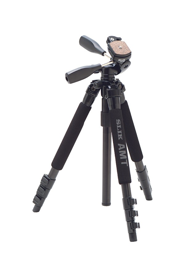 Slik Pro 340DX Tripod (Black) with 3-Way Pan/Tilt Head (Quick Release) - Supports 8.8 lbs (4 kg)-1013