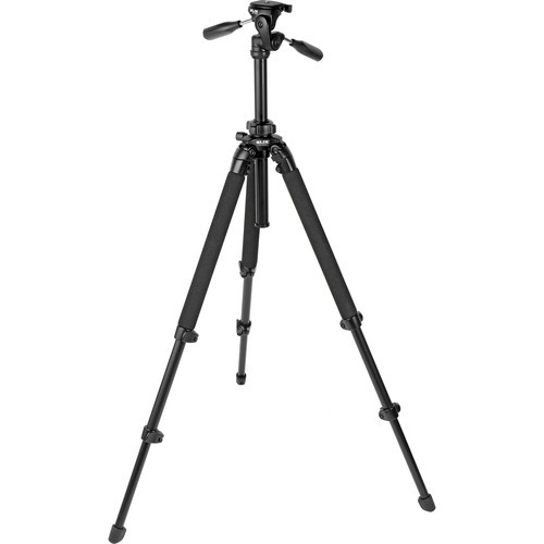 Slik PRO 400DX Deluxe Tripod with 3-Way Pan/Tilt Head (Quick Release) - Supports 11 lb (5 kg)-1014