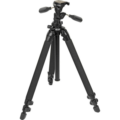 Slik PRO 400DX Deluxe Tripod with 3-Way Pan/Tilt Head (Quick Release) - Supports 11 lb (5 kg)-1015