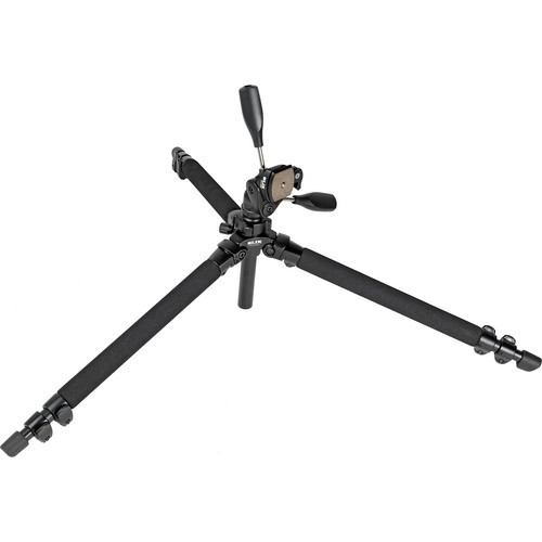 Slik PRO 400DX Deluxe Tripod with 3-Way Pan/Tilt Head (Quick Release) - Supports 11 lb (5 kg)-1017