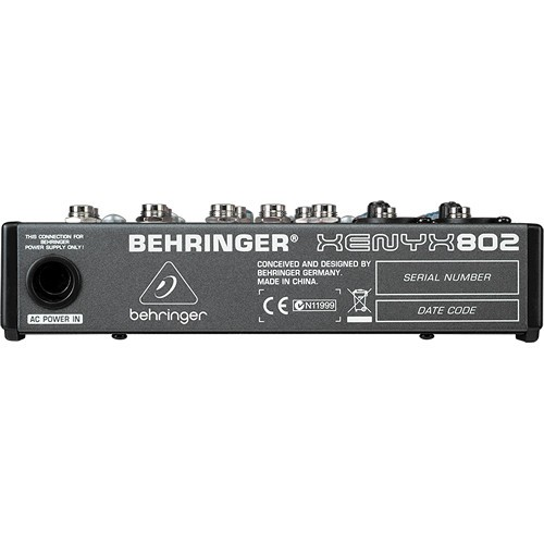 Behringer XENYX 802 8-Channel Compact Audio Mixer-1496