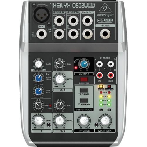 Behringer Xenyx Q502USB Premium 5-Input 2-Bus Mixer-1498