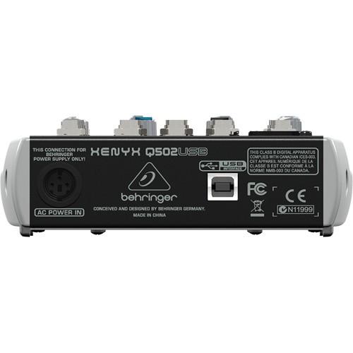 Behringer Xenyx Q502USB Premium 5-Input 2-Bus Mixer-1500