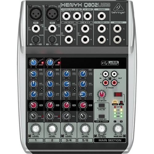 Behringer Xenyx Q802USB Premium 8-Input 2-Bus Mixer-1502