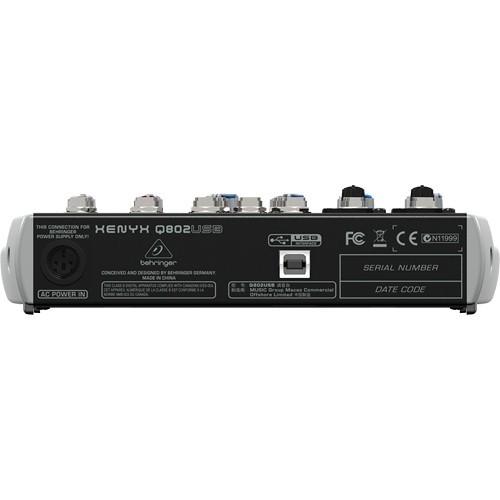Behringer Xenyx Q802USB Premium 8-Input 2-Bus Mixer-1504